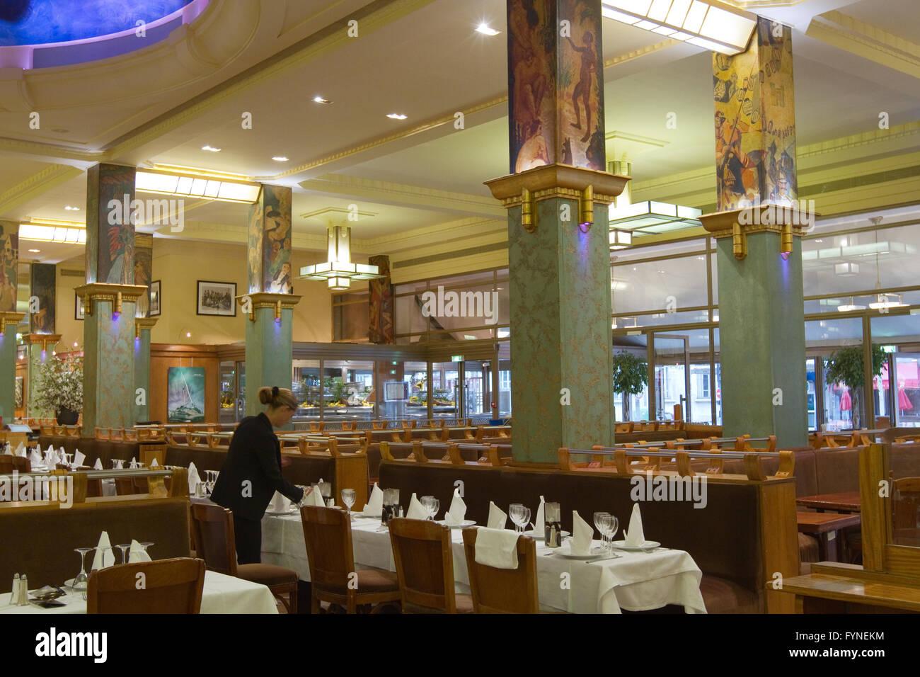 La Coupole restaurant in Montparnasse Paris France Stock Photo