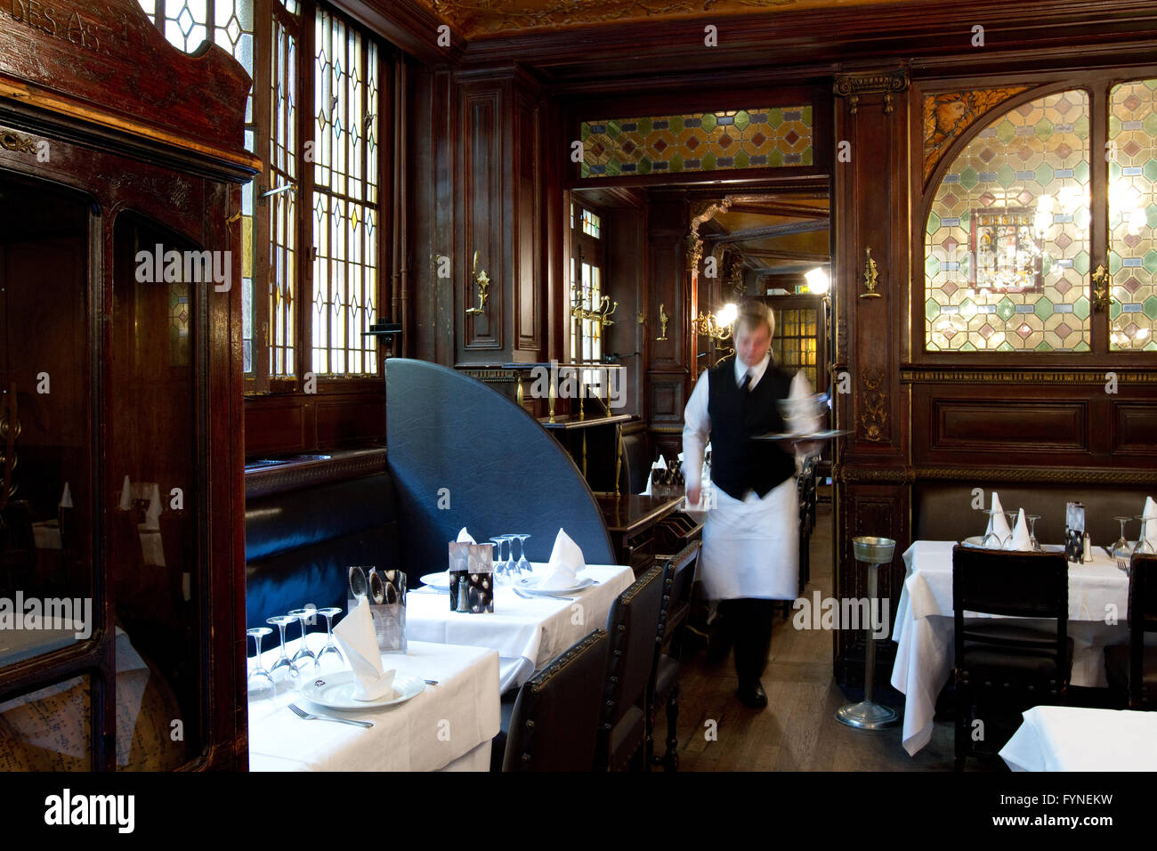 The historic Brasserie Flo Paris France Stock Photo