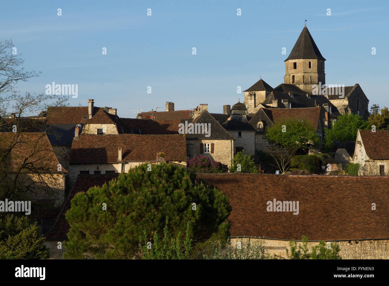 The charming village of Saint Robert Correze France Stock Photo