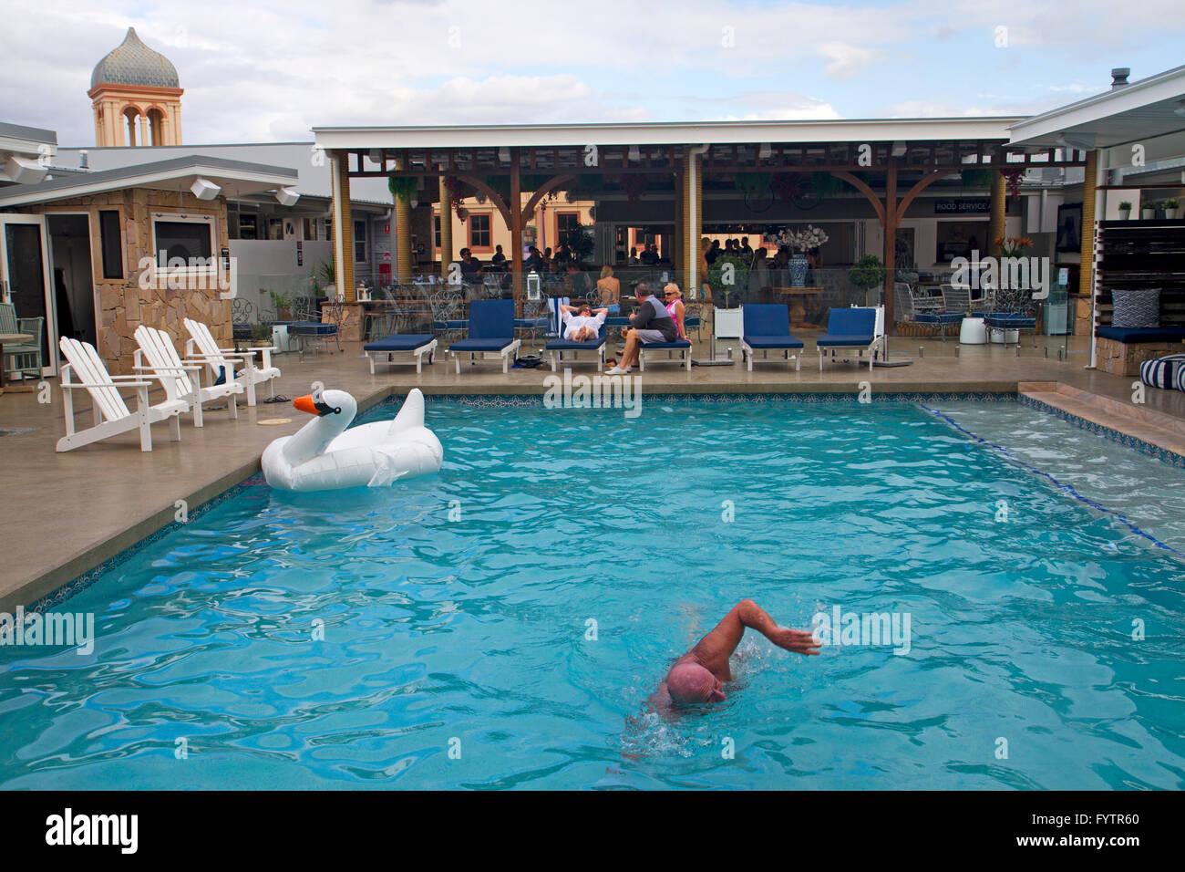 Swimming Pool At Rambutan Townsville Hostel Stock Photo