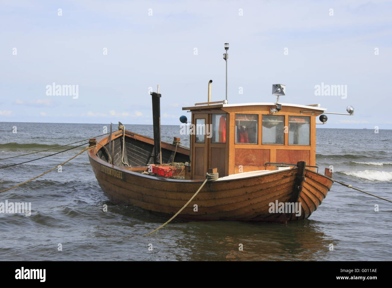 fishing boat at the German Baltic Sea Stock Photo