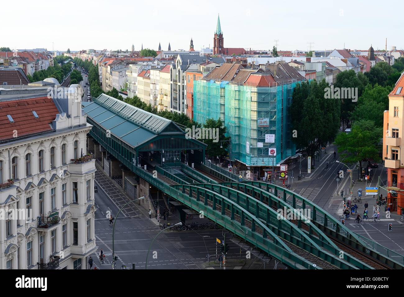 prenzlauer berg u bahn station berlin stock photo royalty free image 103513787 alamy. Black Bedroom Furniture Sets. Home Design Ideas