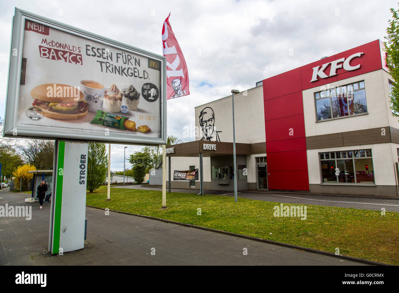 Poster advertising for McDonalds fast food restaurants, in ...