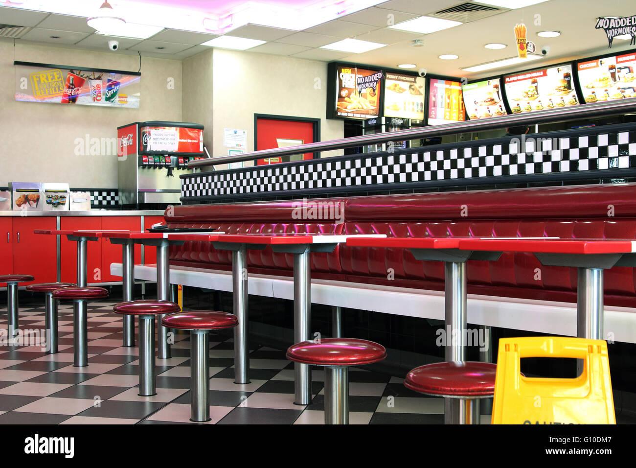 Hungry jack s burger king fast food restaurant interior