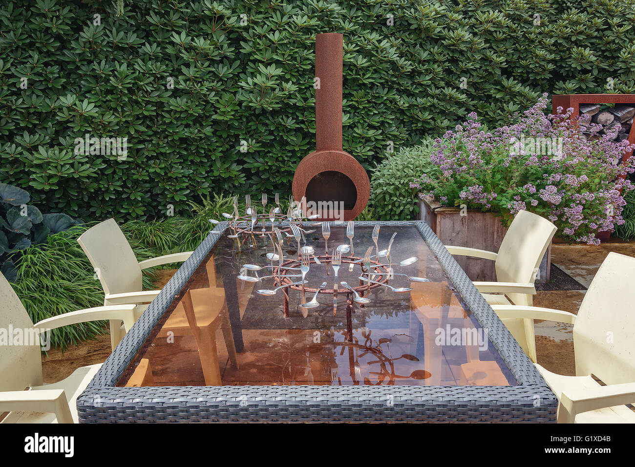 The architectural forms of the garden stock photo royalty for Xd garden design