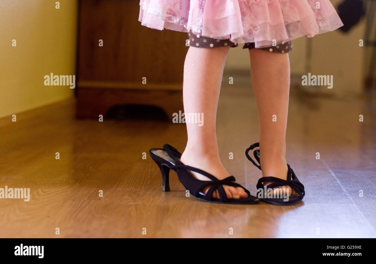 wearing high heel shoes stock photo royalty free