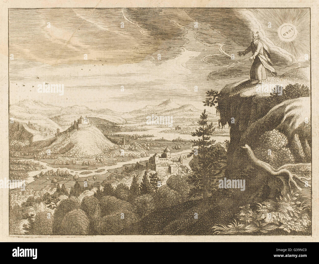God permits Moses to view Canaan, the Promised Land, from ...