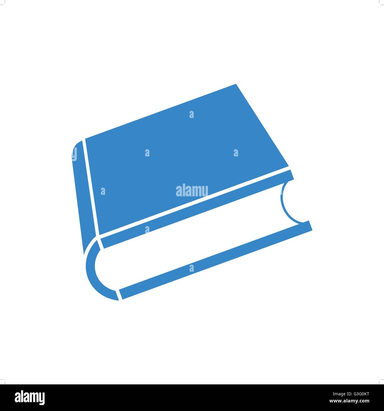 Blue Book Cover Background : Blank blue d book cover vector illustration isolated on