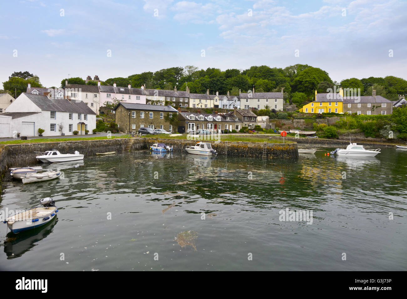harbour Quay Strangford village Stock Photo