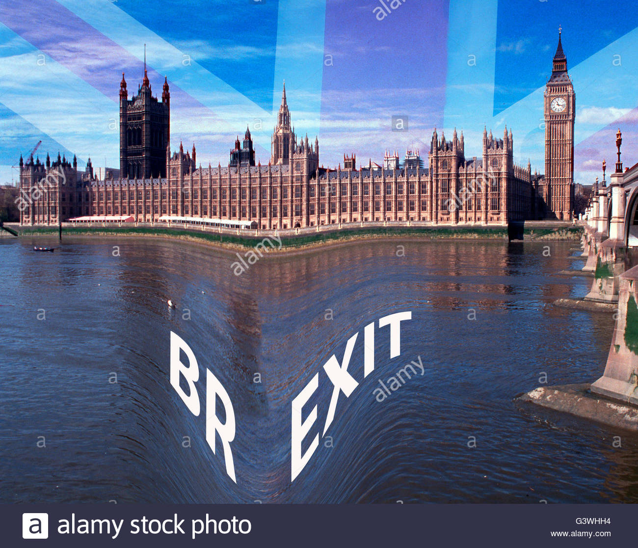 Brexit campaign wins the EU referendum on 23rd June , 2016 Stock Photo