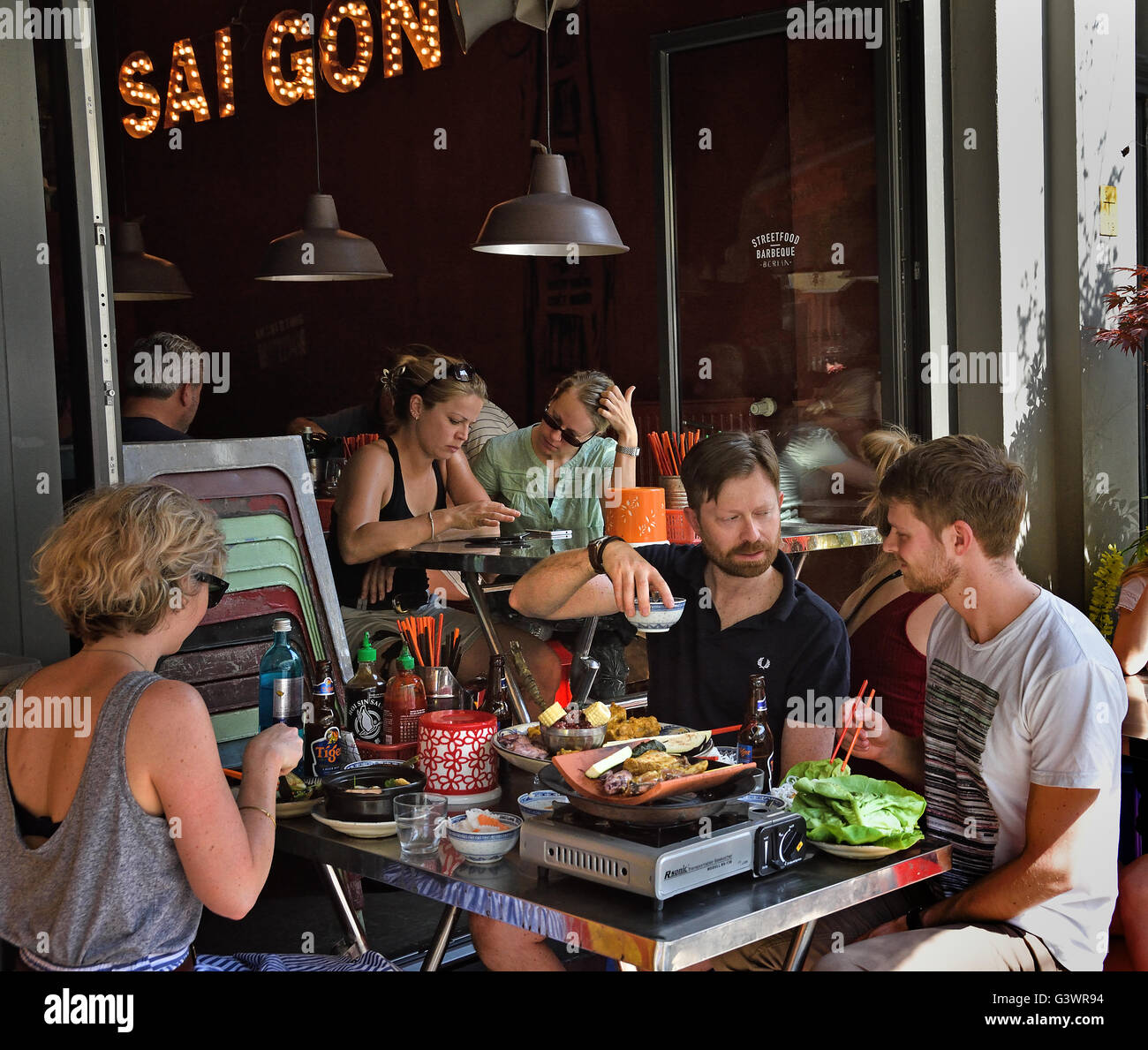 Stock Photo - District Môt - Saigon Street Food Vietnamese Restaurant Mitte, Rosenthaler Strasse Berlin Germany