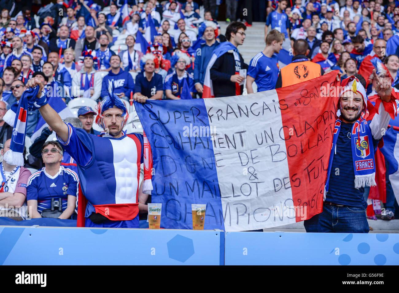 supporters france june 19 2016 football uefa euro france stock photo royalty free. Black Bedroom Furniture Sets. Home Design Ideas