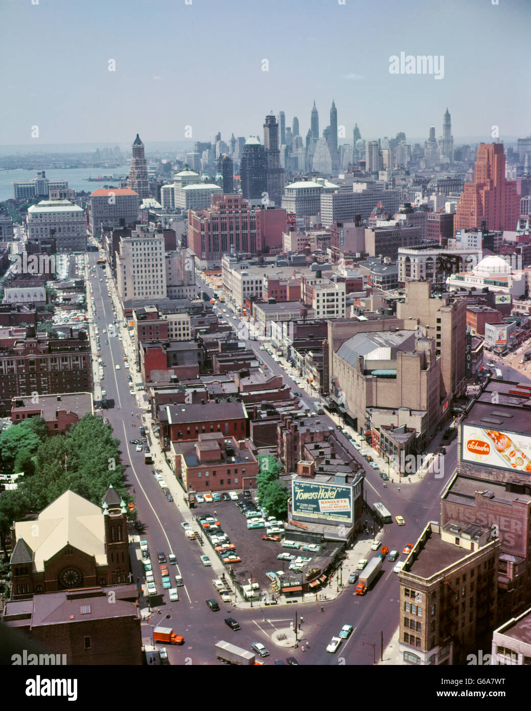 1950s Aerial View Of Downtown Brooklyn Taken From
