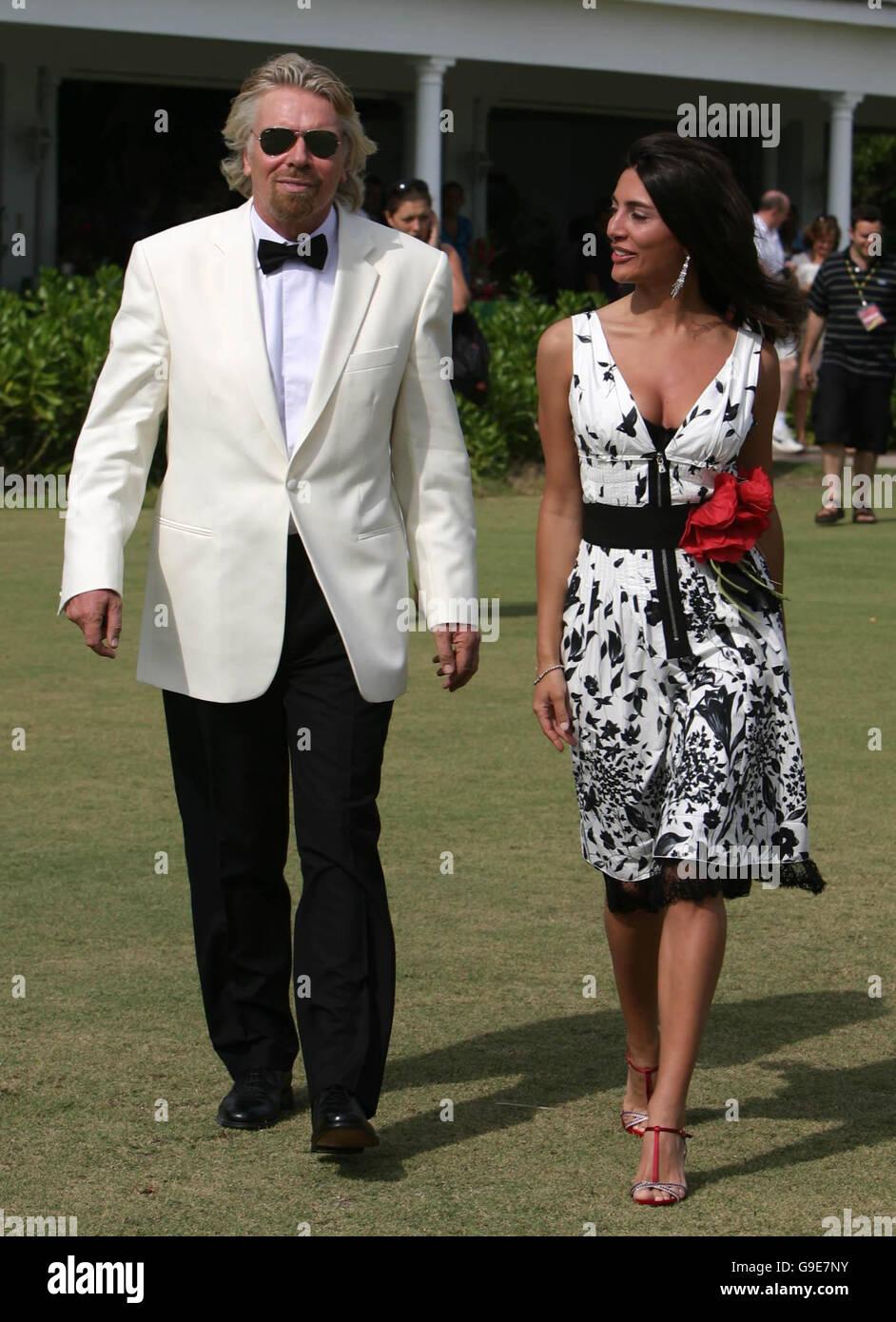 Virgin Atlantic boss Sir Richard Branson with Italian ...