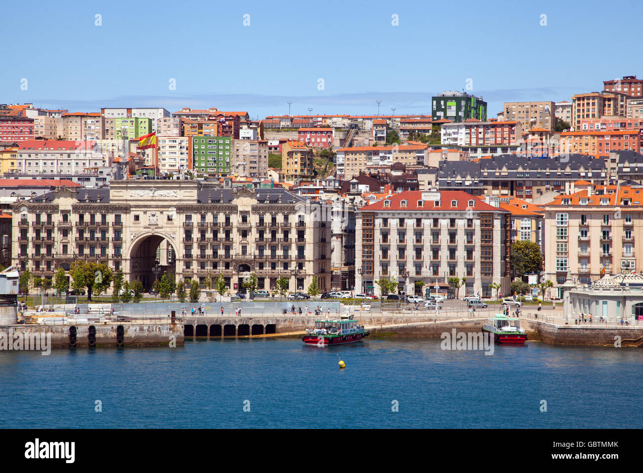 Arriving at the port of santander spain by ferry boat from - Be up santander ...