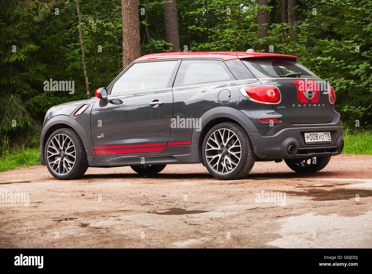 kotka finland july 16 2016 mini john cooper works paceman all4 stock photo royalty free. Black Bedroom Furniture Sets. Home Design Ideas
