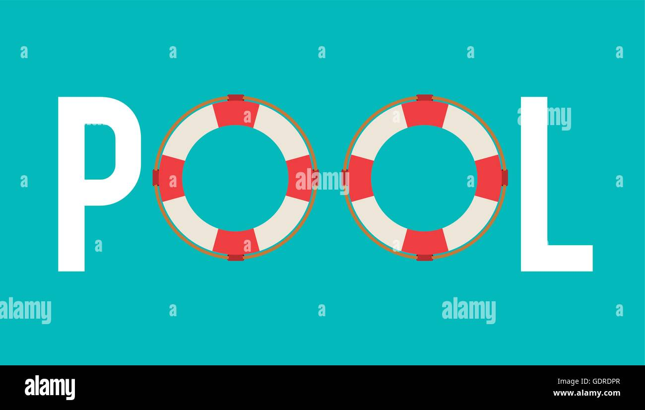 Float icon swimming and pool party design vector graphic for Pool design graphic