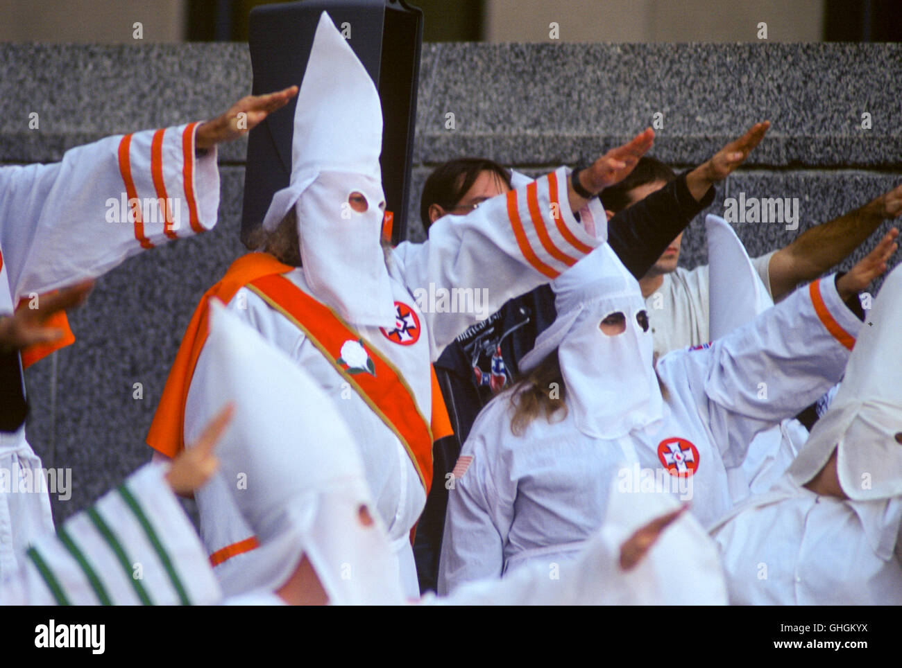 http://c7.alamy.com/comp/GHGKYX/klan-members-give-the-nazi-salute-at-a-ku-klux-klan-rally-in-birmingham-GHGKYX.jpg