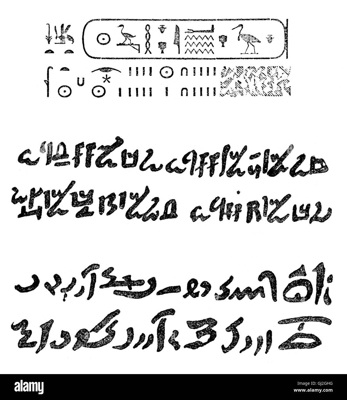 The Hieratic Alphabet