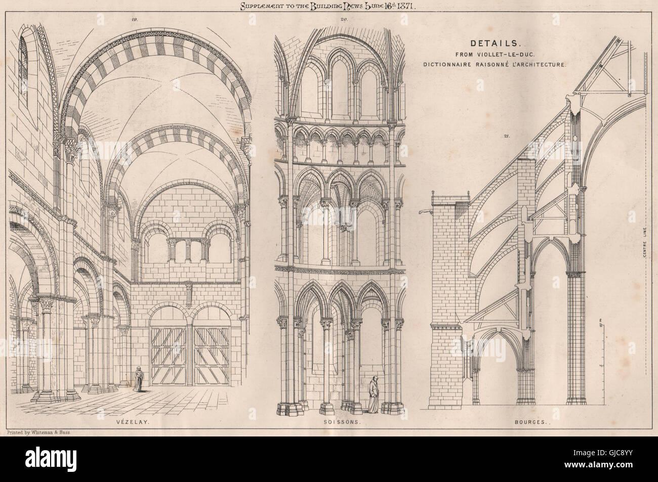Details from viollet le duc dictionnaire raisonn l for Dictionnaire architecture