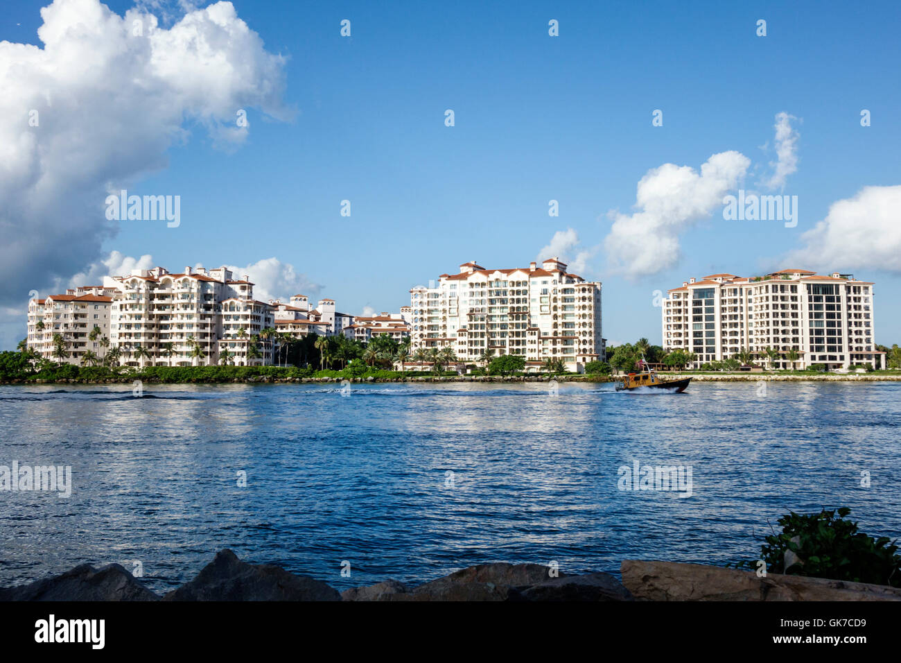 12 >> Florida Miami Beach South Beach Fisher Island Government Cut shipping Stock Photo, Royalty Free ...