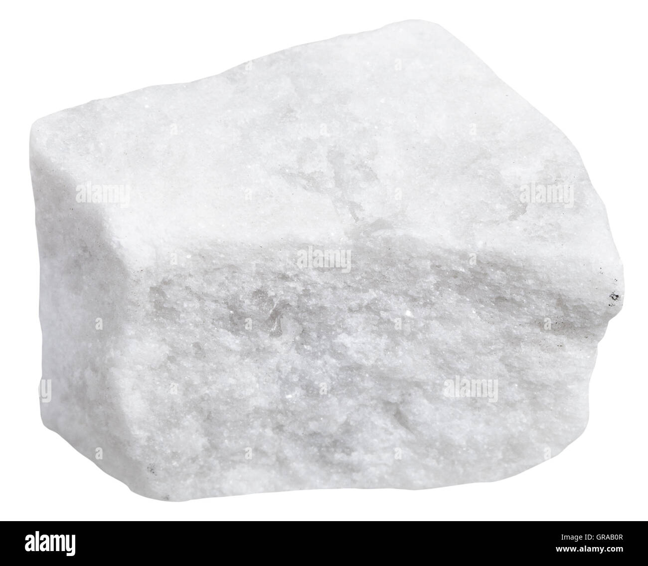White Marble Rock : Macro shooting of metamorphic rock specimens piece
