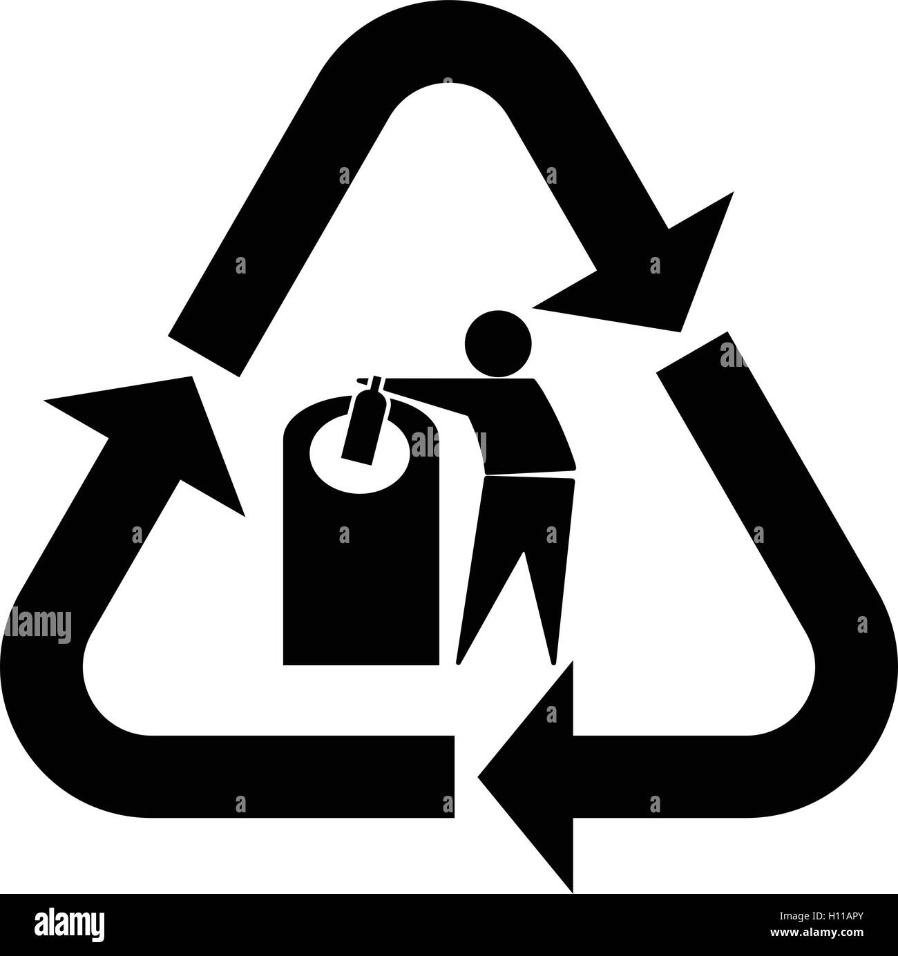 glass recycling symbol tidy man  glass recycling icon with