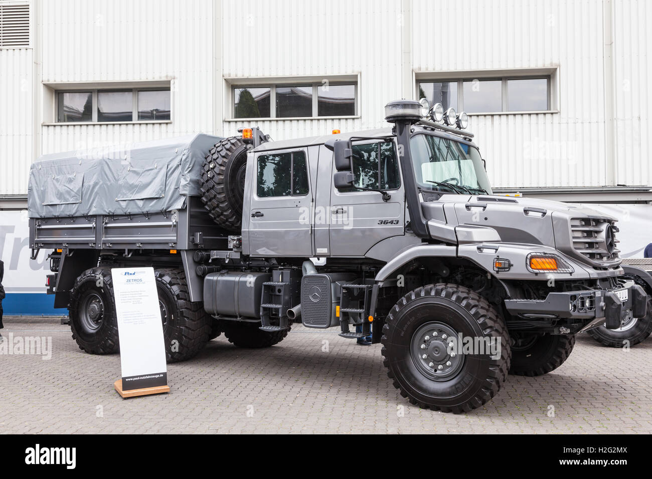 Mercedes benz zetros 6x6 crew cab truck stock photo for Mercedes benz zetros 6x6 expedition vehicle