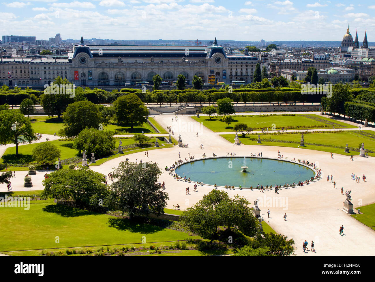 aerial view of jardin des tuileries and orangerie museum in paris stock photo 122178700 alamy. Black Bedroom Furniture Sets. Home Design Ideas