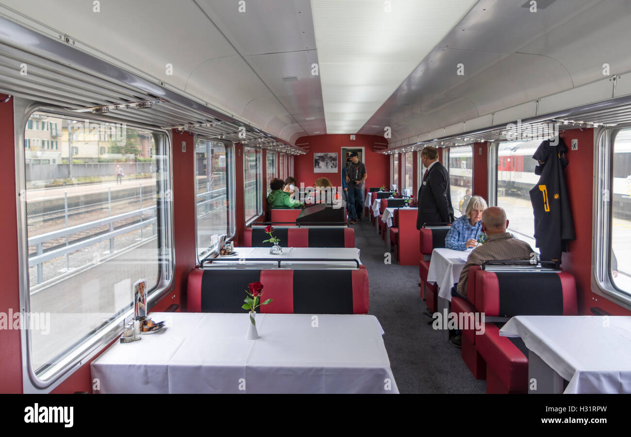 dining car of the trans europ express sbb rae tee ii 1053 a vintage stock photo royalty free. Black Bedroom Furniture Sets. Home Design Ideas