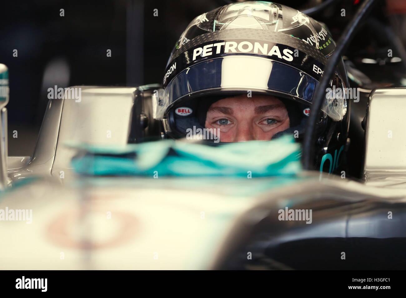 Suzuka, Japan. 8th Oct, 2016. Nico Rosberg (GER) F1 : Japanese Formula One Grand Prix at Suzuka Circuit in Suzuka, Stock Foto