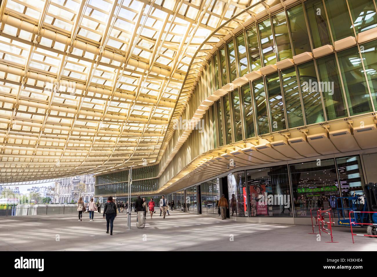 Forum Des Halles Shopping Centre Paris France Stock