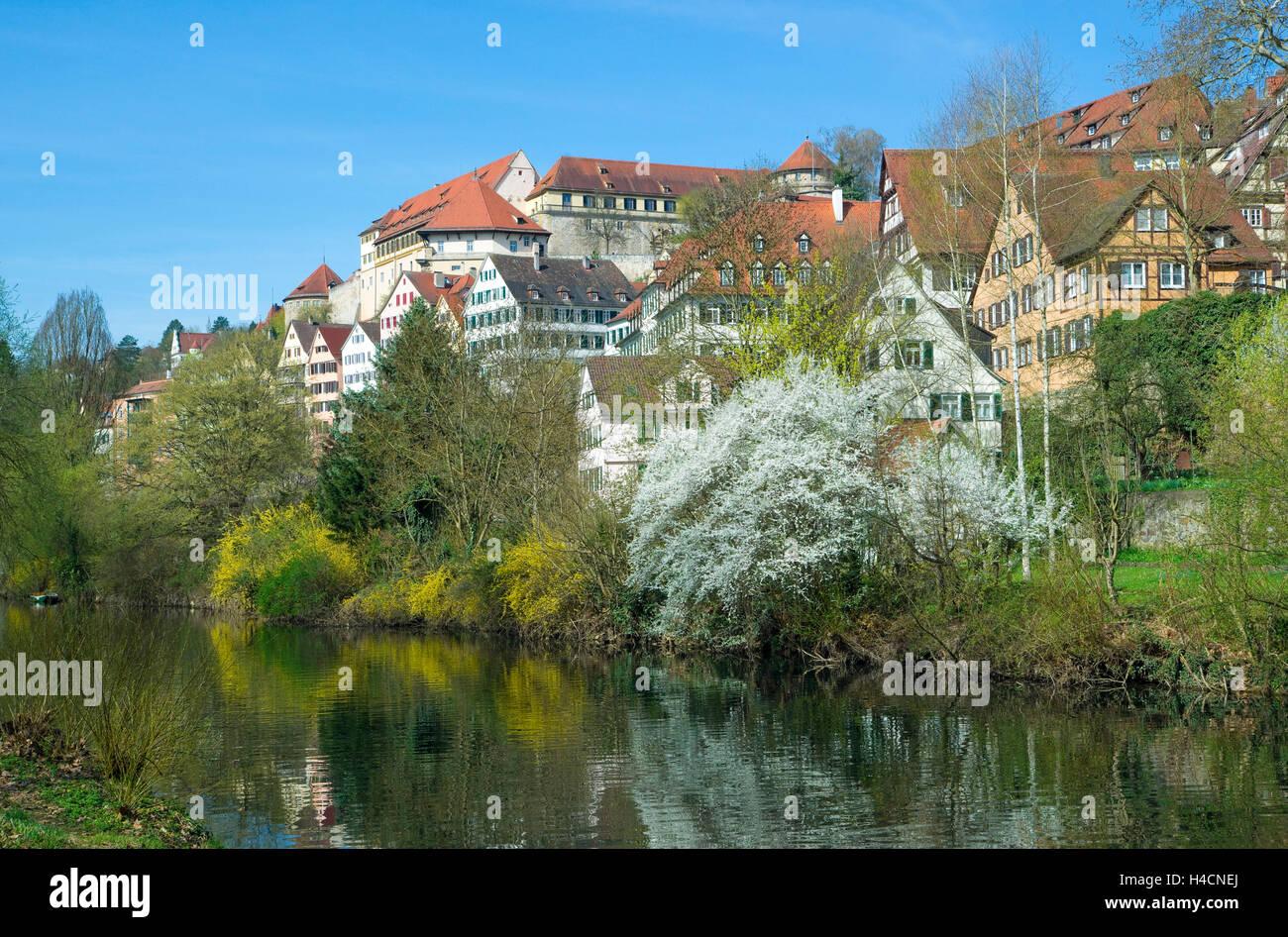 Germany, Baden-Wurttemberg, Tübingen, Houses On The Neckar