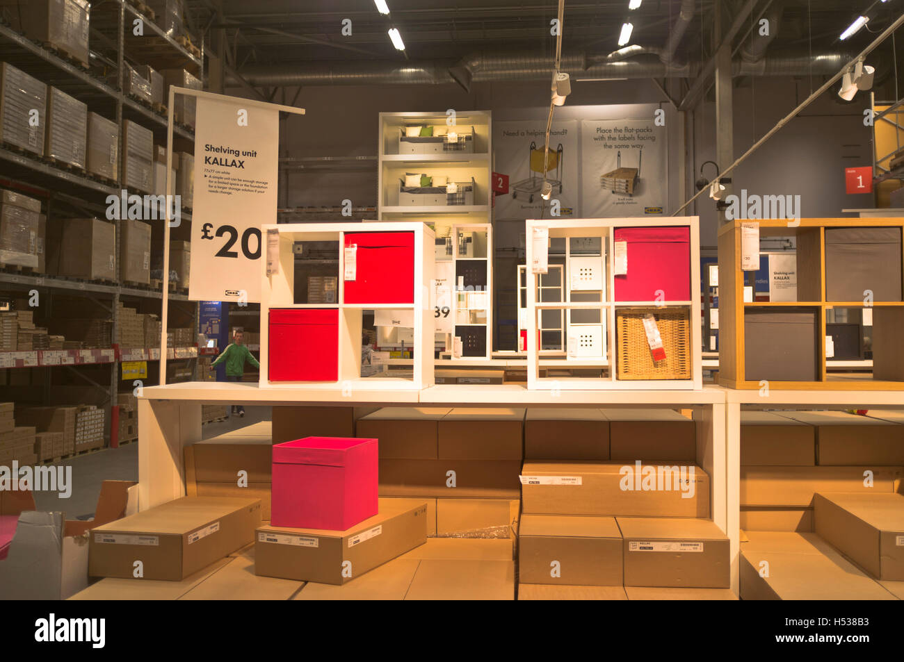 dh ikea superstore uk inside store display interior store england stock photo royalty free. Black Bedroom Furniture Sets. Home Design Ideas