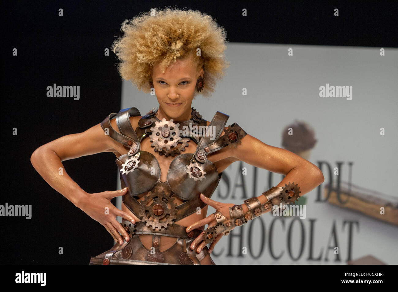 The chocolate fashion show in Paris Stock Photo
