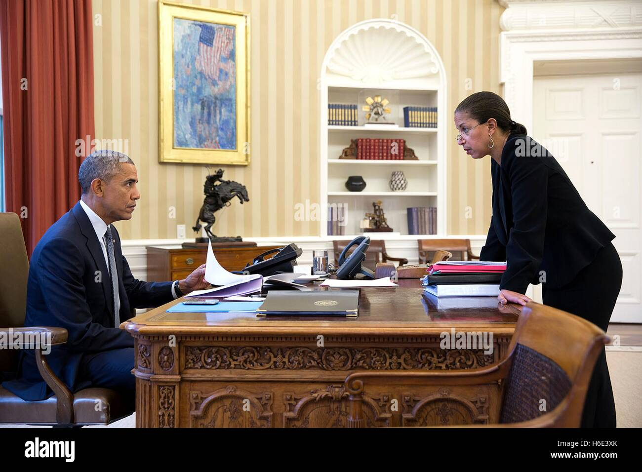 U S President Barack Obama Meets With National Security