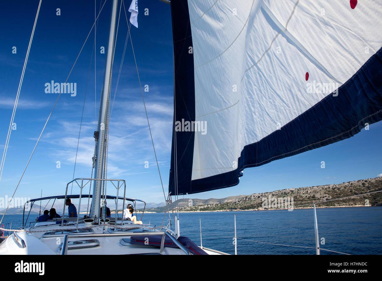 Yacht, sailing regatta. Stock Foto