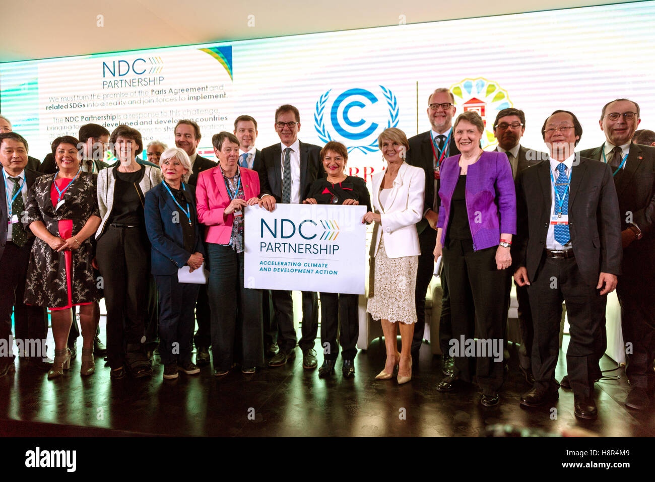 Marrakech, Morocco. 15th Nov, 2016. The German Federal Minister of the Environment Barbara Hendricks (M-L), the Stock Photo