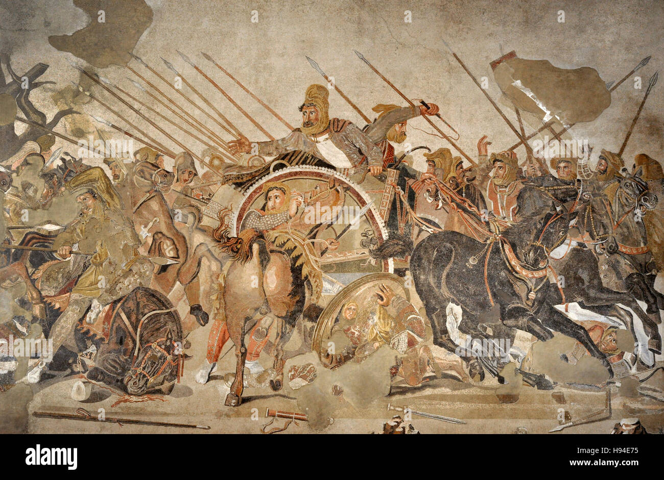 Alexander mosaic battle of issus 333 b c battle for Battle of issus painting