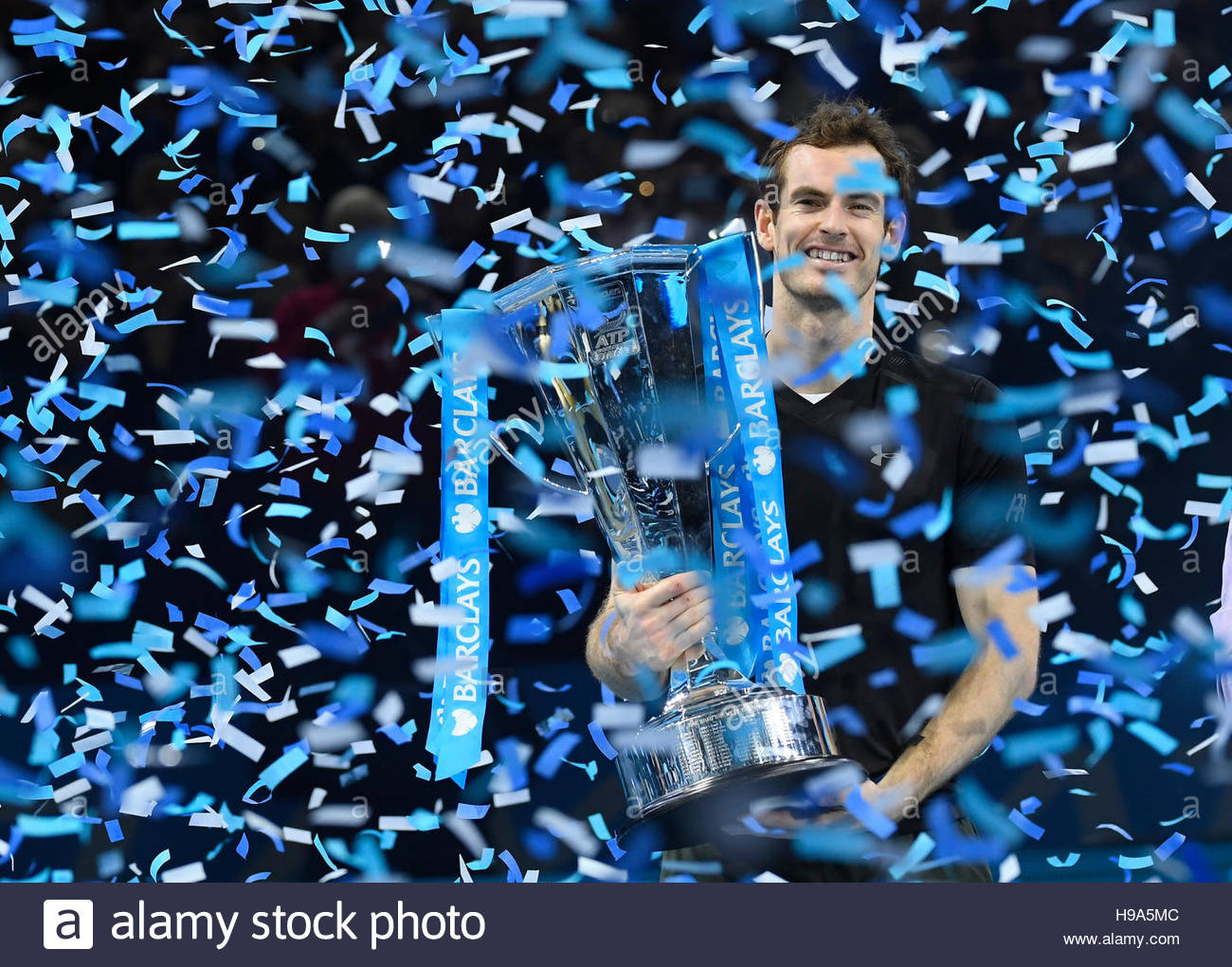 Tennis Britain - Barclays ATP World Tour Finals - O2 Arena, London - 20/11/16 Great Britain's Andy Murray celebrates Stock Foto