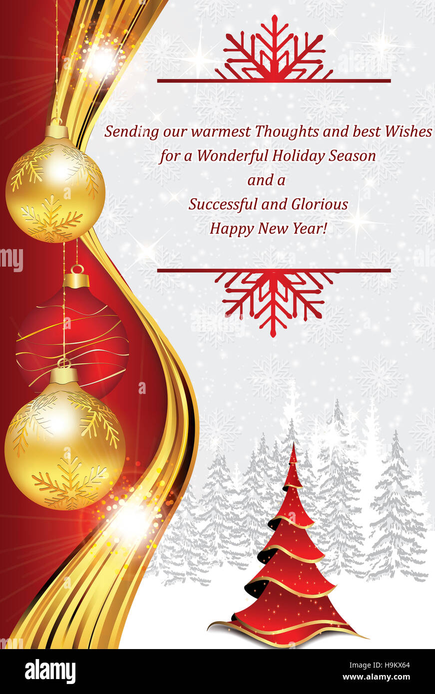 Business New Year greeting card for customers, clients ...