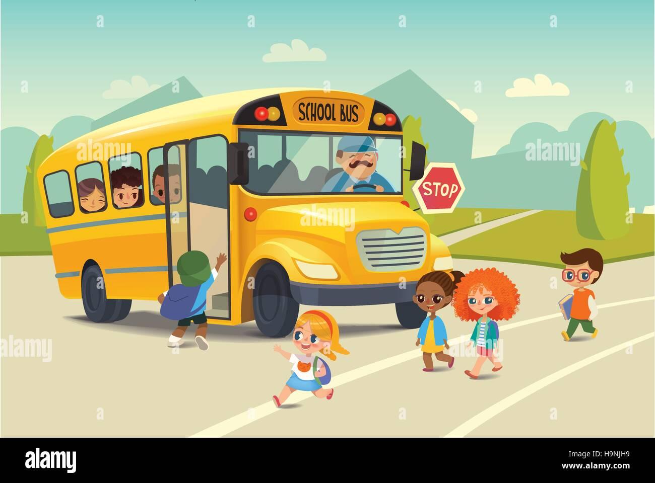 school bus traffic stop law backtoschool safety concept
