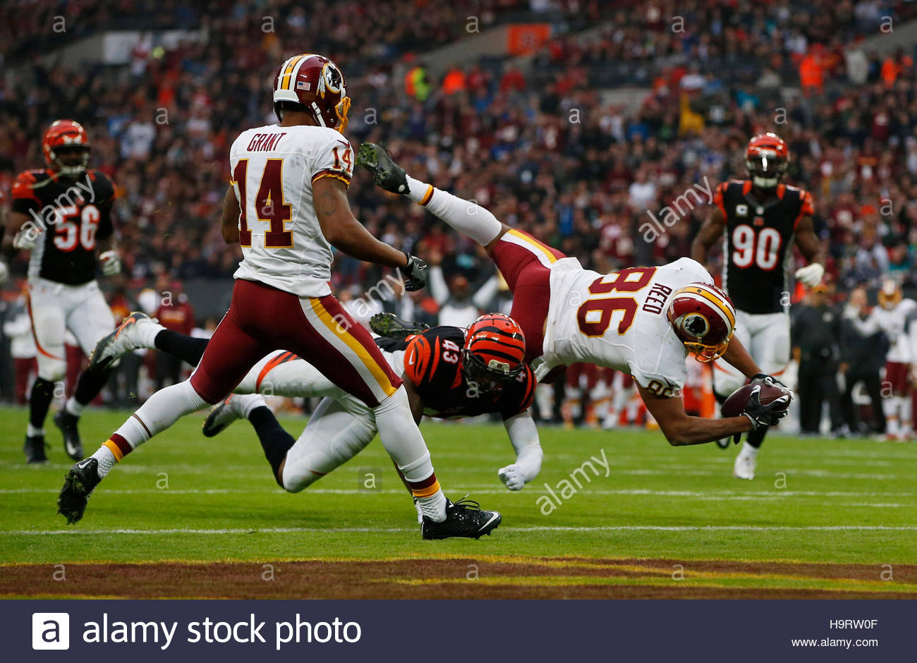 Britain American Football - Cincinnati Bengals v Washington Redskins - NFL International Series - Wembley Stadium, Stock Foto