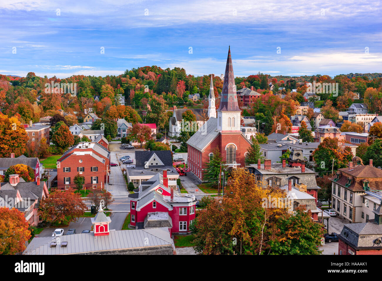 Small Villages In Usa Montpelier Vermont Usa Town Skyline Stock Photo Royalty