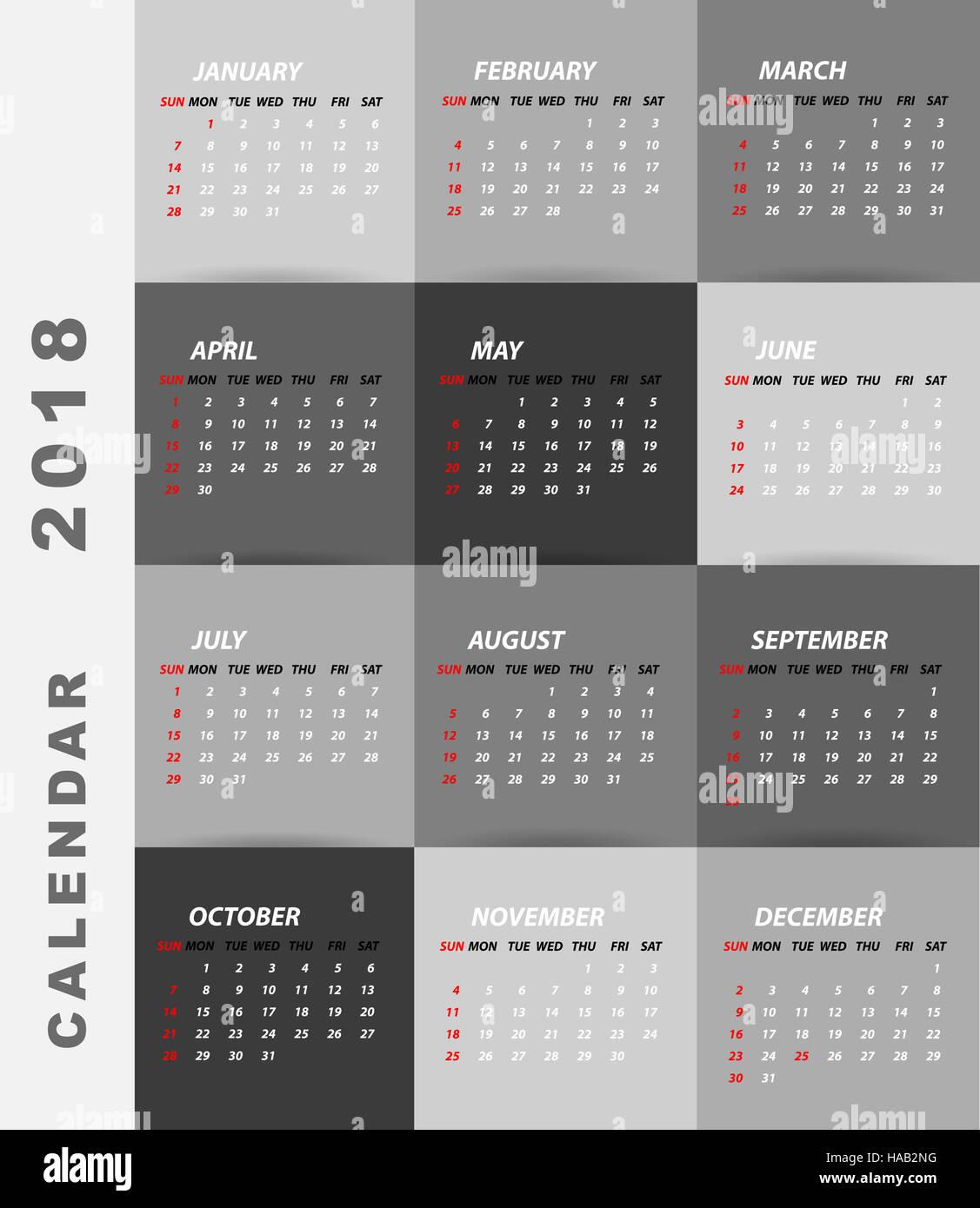 Minimalist Calendar Design : Calendar minimalist design stock photo royalty free