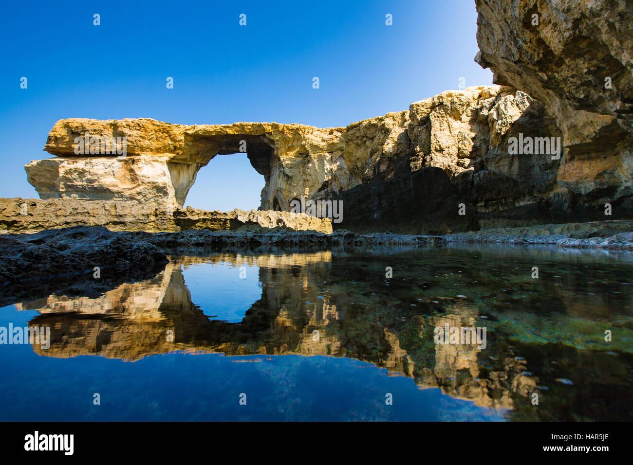 Azure window Malta Stock Photo