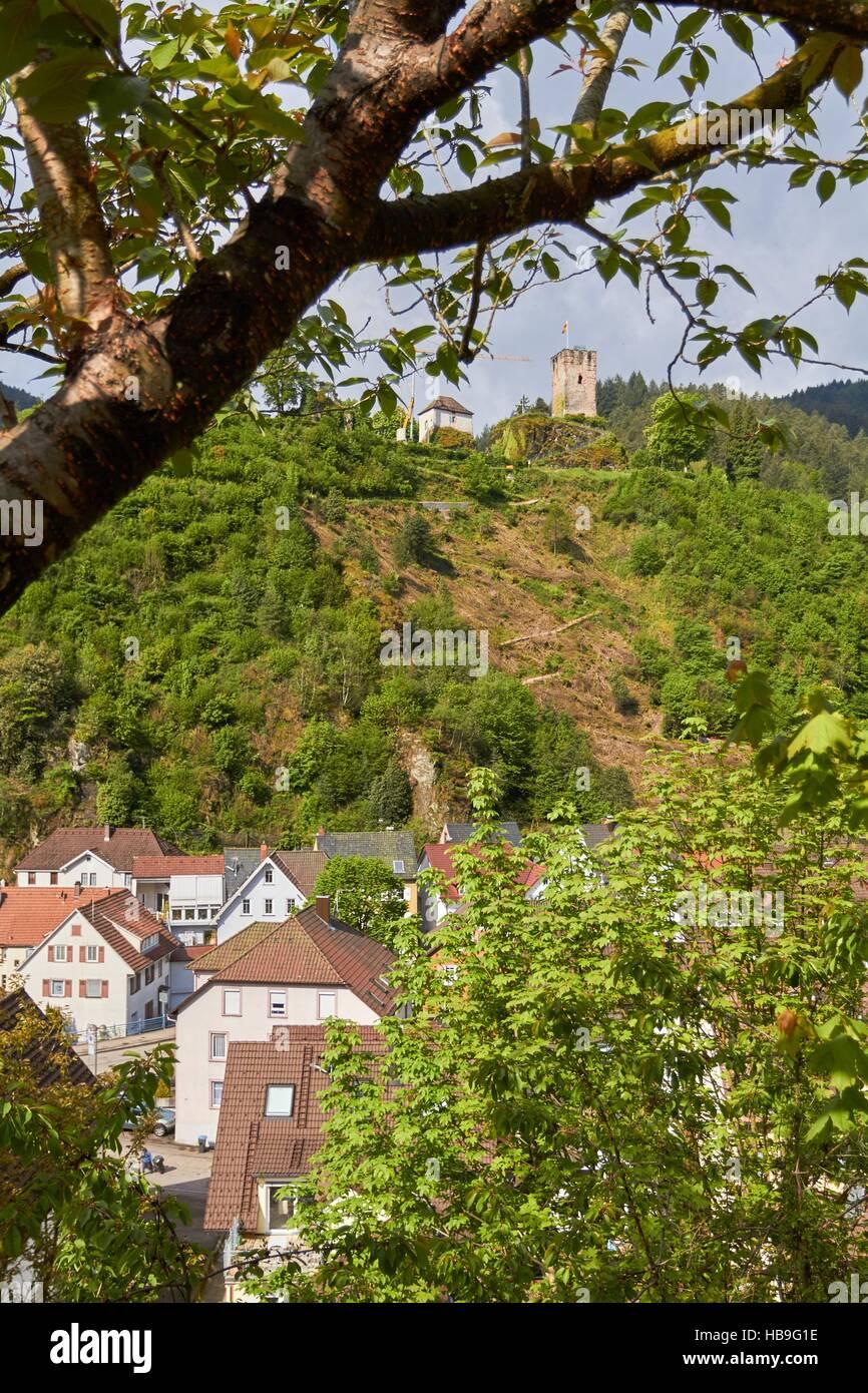 Black Forest: Hornberg in Black Forest Stock Foto