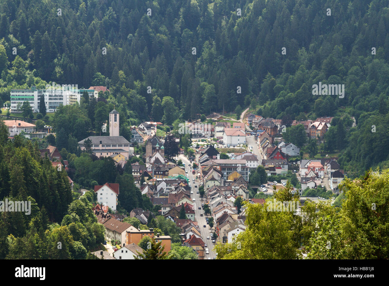 Black Forest: Triberg, Germany Stock Foto