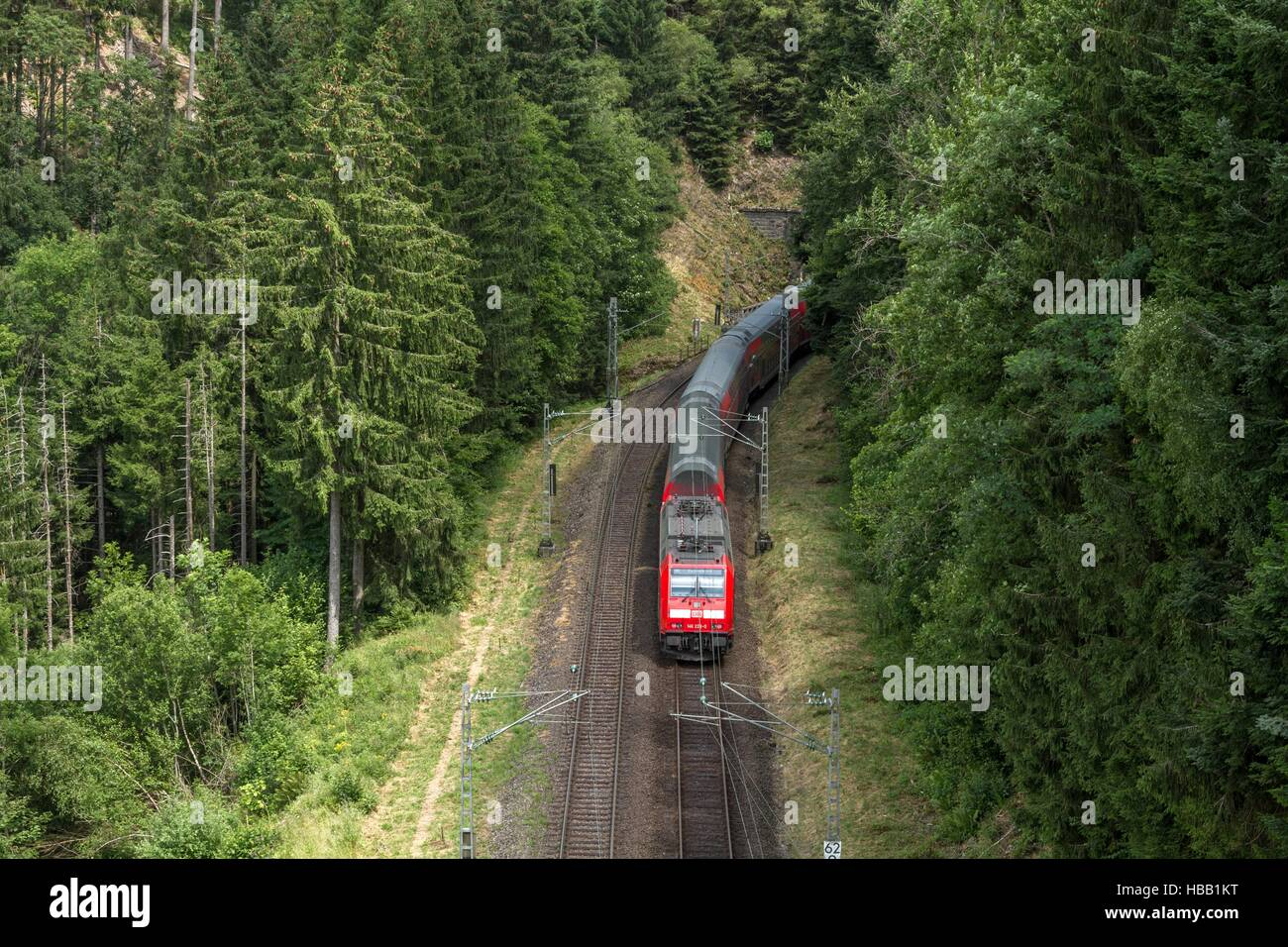 Deutsche Bahn: Regional-Train in Black Forest Stock Foto