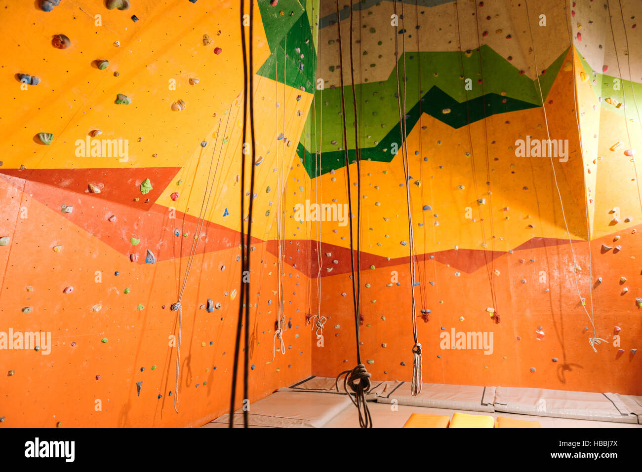 Close up of climbing gym Stock Foto